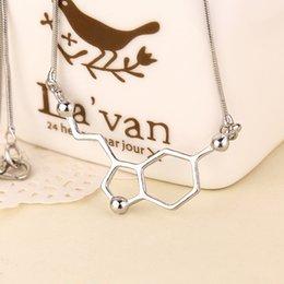 Wholesale 2016 Latest Arrival Statement Science Students Dopamine Molecule Chemical Structure Formula Pendant Necklace High Quailty ZJ