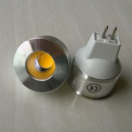 Gu4 conduit à vendre-Dimmable GU4 MR11 GU10 GU5.3 5W COB LED Lumière Économiseur d'Énergie Spot Bulbes Cool Blanc Blanc Chaud