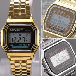 Wholesale 2015 Fashion Vine Watches Electronic Digital Display Retro style Watch Gold Silver FMHM102 M1