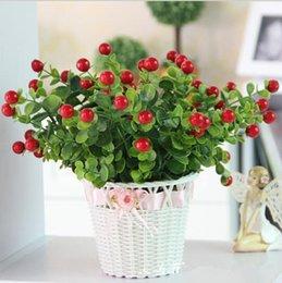 Wholesale 5pcs Cute artificial plant fruit trees foam Rich fruit decorative flower bouquet for home bicycle vase decoration