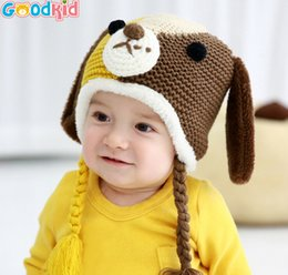 Wholesale Crochet Puppy Hats - Children's cartoon puppy hat Dongkuan wool cap knitted hat baby hats baby JIA372