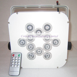 Free shipping LED Stage Lighting 12X15W RGBAW UV 6 in 1 Battery powered LED wireless up-lights