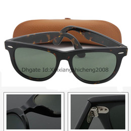 Wholesale Classic Style Brand Sunglasses Best Quality Tortoise Hinge Metal Frame Green mm With Sun Glass Lens For Brown box