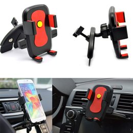 Wholesale-New 360 Degree Rotating Car CD Dash Slot Mobile Phone Holder Mount Stents for iPhone 6 5S 5C 4S For Samsung Phone Holder