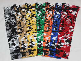 new arrival 200pcs digital camo arm sleeve Moisture Wicking Compression Sports Baseball Flames cancer breast
