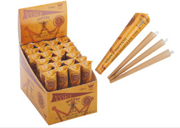 Wholesale 72Cones displaybox MMKingSize Hornet Brown Natural Hemp Rolling Cone Paper Smoking Rolling Papers Cigarette Rolling Paper