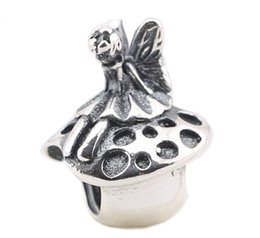 100% Sterling Silver Charms 925 Ale Princess Butterfly Mushroom Charms for Pandora Bracelets DIY Beads Accessories