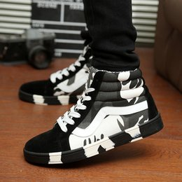 size 39-44 new arrival 2015 high-top winter men boots 6639 hot sale and high quality Camouflage men shoes 3 colors