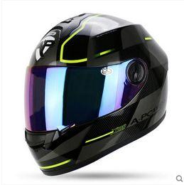 Wholesale Latest Version Racing Stripes ROSSI Carding Motorcycle Helmet Cool Men AP Number Cascos Para Moto Dirt Dot Capacete