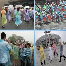 Wholesale Fashion Disposable Raincoats Poncho Rainwear Emergency Camping Travel Rain Coat PE Raincoat mens womens rain outdoor jackets Poncho