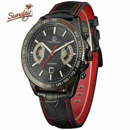 FORSINING mode automatique de sport pilote Bracelet en cuir imperméable quartz hommes montres à partir de bracelet en cuir pilote fabricateur