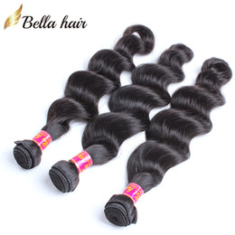 Peruvianhair Weave Virgin Human Hair Extensions Natural Color Black Loose Deep Hair Top Quality 8A 3PCS Bellahair Bulk Wholesale