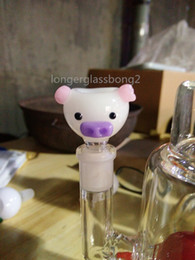 Wholesale 2016 NEW HEADY Glass Bowl Pig hog cute pig glass bong animal glass bowl glass bowl Accessories