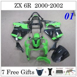 Wholesale Injection Molding Fairing For Kawasaki ZX6R ZX R ZX636 Fairing Kits ABS Plastic Green Black Injection Molding