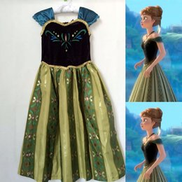 New Arrive Frozen Dress Clothing Fashion ANNA Princess Printed Dresses Kids Clothing Children Cosplay Party Dress 1pcs