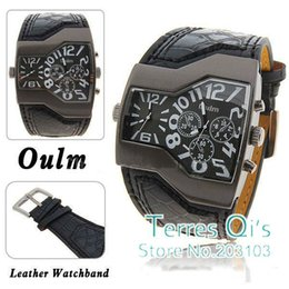 Wholesale Oulm Fashion Watches Army Mens Quartz Wristwatch Free Ship