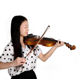 Wholesale Top Quality Full Size Violin Fiddle Basswood Steel String Stringed Musical Instrument for Kids Beginners Circle Style Bow order lt no tr