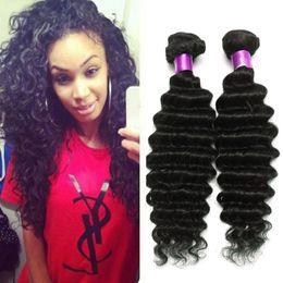Cheap Human Hair Brazilian Deep Wave Virgin Hair Bundles Unprocessed Brazilian Virgin Hair Weaves Brazilian Deep Curly Human Wefts