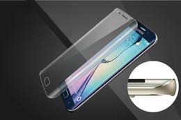 Nouveaux écrans de téléphone en Ligne-Nouveau pour Samsung s6edge + flexion téléphone verre plein écran film protecteur livraison gratuite de forme incurvée film souple