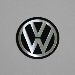 "4PCS VW Black 55MM (2.16"") Auto Wheel Center Caps Stickers For VW Car Badge Emblem Sticker M26027"