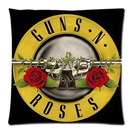 Wholesale Custom Guns N Roses Throw Pillow Case Amazing Zippered x18 inch Two side print PillowCase