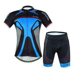 Wholesale-Mens Cycling Jersey Sets Black Colorful summer short sleeve bike wear cycling clothing Mountain Bike Jersey Bib Shorts