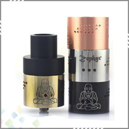 Wholesale Newest Zephyr Buddha RDA Atomizer with Air Holes thread Vaporizer RDA Fit Mods high quality Colors DHL Free
