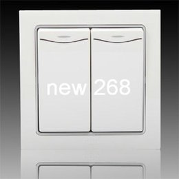 Wholesale 2pcs ABB ABB switch socket panel genuine Durning two single control switch with led lights AN162