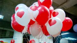 Compra Online Globos del corazón-0pcs / lot espesan los globos del látex para las decoraciones de la boda del festival del partido con la tarjeta del día de San Valentín grande imprimieron el corazón 870105 ...