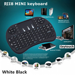 Wholesale 20p Rii i8 Remote Mouse Keyboard Combo Wireless GHz Touchpad Keypad For MXQ MXIII MX3 M8 CS918 M8S MX2 T8 WIFI Bluetooth TV BOX Color