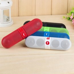 Wholesale 2015 new pill Bluetooth speaker Portable Wireless JHW V318 Speaker Active Speaker Support TF mm Audio Handsfree For Phone PC Tablet PA