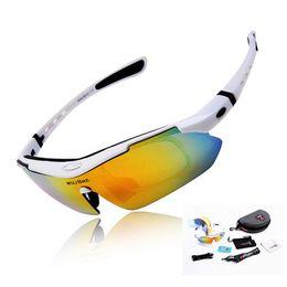 2017 lentes polarizadas Venta al por mayor-WOLFBIKE hombres de moda de ciclismo de montaña de montaña de deportes al aire libre gafas de sol gafas de sol gafas de sol 5 lente polarizada lentes polarizadas Rebaja