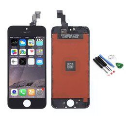 Wholesale 5c LCD For Iphone C LCD Display touch screen with digitizer Full Assembly tools Black Color Track Code
