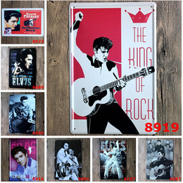 Wholesale 20 cm Metal Tin Sign Elvis elvis presley portrait Retro vintage Classic Tin Bar pub home Wall Decor Retro Tin Poster