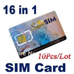Wholesale 10Pcs in GSM SIM Mobile Phone Magic Super SIM Max Card