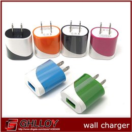 colorful 5V 1A Us wall charger adapter plug egg roll style charger for apple iphone 4 5 5c 6 for samsung 100pcs up