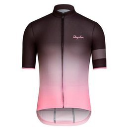 Wholesale Promotion Rapha short sleeve cycling jerseys contracted fashionable riding bike unlined upper garment jacket MTB Bike outdoor jersey