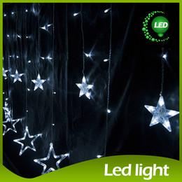 2m*1m 138 LED Led Curtain Light Garden Light 12 Big Star Pendant String Light String Christmas Lights Led Decorative Lights LED Star String