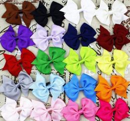 1000X Fashion Baby Hair Bows Clips Boutique Hair Pin Grosgrain Ribbon Bows Hairpins Kids Headwear hair Accessories for girls