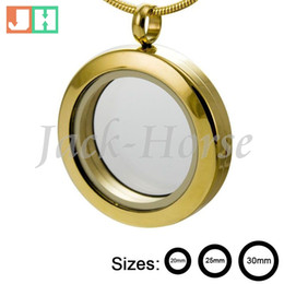 2015 hot selling High quality 20mm 25mm 30mm round gold 316l stainless steel living charm gold locket designs