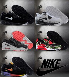 Discount Shoes Run Air Max 2016 New Nike Air Max 90 Running Shoes For Men and Women Cheap Original Breathable Multi Color Nike Airmax 90 Athletic Shoes
