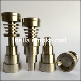 Wholesale updated mm mm mm in domeless titanium nail with male and female joint with holes on head