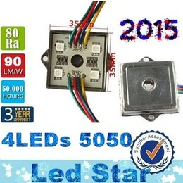 Wholesale 5050 RGB Led Modules Tetragonal Iron LEDs W Waterproof Led Lights Modules Pixel Light For Advertisement Signs Channel Letters Backlighting