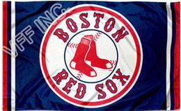 Wholesale Boston Red Sox Flag MLB Major League Baseball ft x ft Polyester Banner Flying cm Custom flag sport helmet BRS3