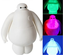 Wholesale Big Hero Baymax beast corps to light fat moving voice glowing white model figurines