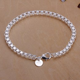 Hot sale best gift 925 silver Aberdeen box bracelet DFMCH172,brand new fashion 925 sterling silver plated Chain link bracelets