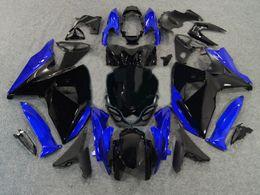 Injection fairing kit for SUZUKI GSXR 1000 09 10 GSX-R 1000 K9 GSXR 2009 2010 blue black shiny ABS trim