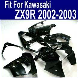 Customize Motorcycle fairings for Kawasaki ZX 9R 2002 2003 all glossy black fairing kit ninja ZX-9R 02 ZX9R 03 PP2
