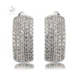 The new listing Promotion Favourite Best Sellers Trendy MN3168 Classic White Cubic Zirconia Shinning Copper Rhodium Plated Fashion Earrings