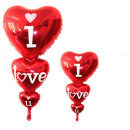 Wholesale Large Size Love Letter Shaped Foil Balloons Wedding Party Decoration Bola Valentines Wedding Supplier Air Balls
